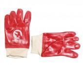 InterTool Перчатки маслобензостойкие красные