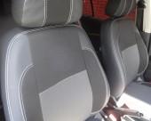 EMC Elegant Premium Авточехлы для салона Renault Fluence с 2009г, цельный задний ряд