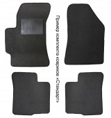 Carrera Стандарт коврики в салон для Kia Cerato 2004-2009 текстильные, черные 4шт