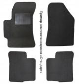 Carrera Стандарт коврики в салон для Renault Logan 04-12 текстильные, черные 4шт