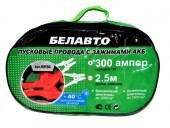 Белавто БП30 Провода прикуривания, 300А 2.5м сумка