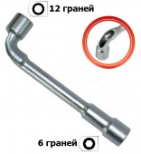 InterTool Ключ торцовый с отверстием L-образный 1шт, 16мм