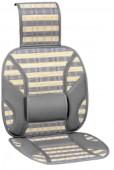 Vitol CW-SC9065 Накидка на сиденье бамбуковая бежево-серая, 2шт
