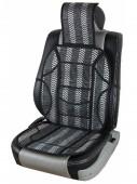 Vitol SC9021 Накидка на сиденье бамбуковая черная, 2шт
