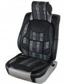 Vitol SC9102 Накидка на сиденье бамбуковая черная, 2шт