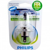 Philips EcoVision H4 12V 60/55W Автолампа галогенная,1шт
