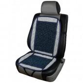 Vitol CN 12511 Накидка на сиденье с косточками синяя, 1шт