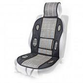 Vitol FD102018 BK Накидка на сиденье бамбуковая черная, 1шт