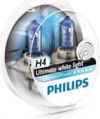 Philips DiamondVision H4 12V 60/55W ��������� �������, 2��