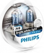 Philips CrystalVision H4 12V 60/55W ��������� �������, 1��
