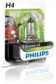 Philips LongLife EcoVision H4 12V 60/55W ��������� �������, 1��