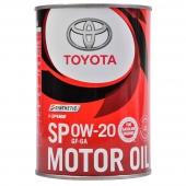 Toyota SP/GF-6A 0W-20 (Japan) Оригинальное моторное масло