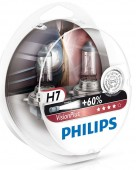 Philips VisionPlus H7 12V 55W ��������� �������, 2��