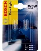 Bosch Xenon Blue W5W 12V 5W Автолампа галогенная, 2шт