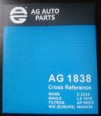 AG Auto Parts AG 1838 фильтр воздушный