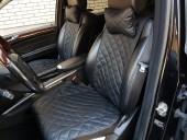 Аvторитет Premium Накидки из экокожи на передние и задние сиденья, черные