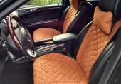 Аvторитет Premium Накидки на передние сиденья, коричневые, 2шт