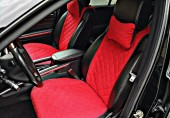 Аvторитет Premium Накидки на передние и задние сиденья, красный