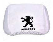 Autoprotect  Чехлы на подголовники PEUGEOT, белые