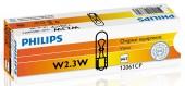 Philips Standart W2,3W 12V 2.3W Автолампа галоген, 1шт