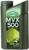 Yacco MVX 500 4T 10W-40 Полусинтетическое масло 4Т двигателей для мотоциклов