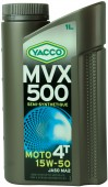 Yacco MVX 500 4T 15W-50 Полусинтетическое масло для мотоциклов с 4-тактными двигателями
