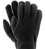 InterTool Перчатки флисовые черные