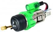 Carlife LC421  Euro Разветвитель автомобильного прикуривателя с подсветкой