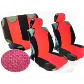 Vitol AG-23087/7 Майки-чехлы с подголовниками черно-красные, комплект 9шт