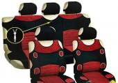 Vitol AG-5200 RD Майки-чехлы с подголовниками черно-красные, комплект 9шт