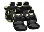 Vitol AG-5200 GY Майки-чехлы с подголовниками черно-серые, комплект 9шт