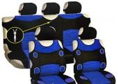 Vitol AG-5200 BL Майки-чехлы с подголовниками черно-синие, комплект 9шт