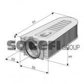 PURFLUX A1384 Воздушный фильтр