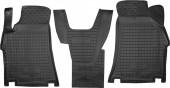Avto-gumm Коврики в салон передние для Hyundai H-1 '08- 1+1 первый ряд, резиновые черные