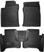 Avto-gumm Коврики в салон для Toyota Land Cruiser 120 (Prado), резиновые черные