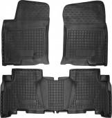 Avto-gumm Коврики в салон для Toyota Land Cruiser 150 (Prado), резиновые черные