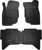 Avto-gumm Коврики в салон для Toyota Hilux, резиновые черные