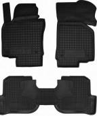 Avto-gumm Коврики в салон для VW Golf 7, резиновые черные