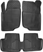 Avto-gumm Коврики в салон для Peugeot 207, резиновые черные