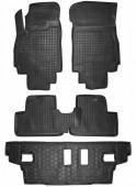 Avto-gumm Коврики в салон для Chevrolet Orlando 7мест, резиновые черные