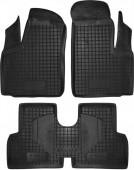 Avto-gumm Коврики в салон для Fiat Doblo '01-10, резиновые черные