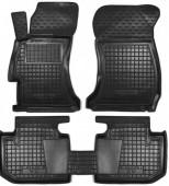 Avto-gumm Коврики в салон для Subaru XV, резиновые черные