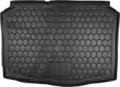 Avto-gumm Коврик в багажник Skoda Fabia ll '07-14 Хетчбэк, резиновый черный