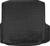 Avto-gumm Коврик в багажник Skoda Octavia A7 '12- Лифтбэк без бокса усилителя, резиновый черный