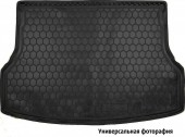 Avto-gumm Коврик в багажник Skoda Super B '15- Лифтбэк, резиновый черный