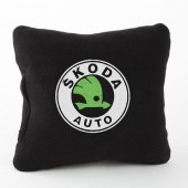 Autoprotect Подушка с логотипом Skoda,черная