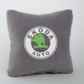 Autoprotect Подушка с логотипом Skoda,серая