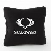 Autoprotect Подушка с логотипом SsangYong, черная