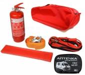 Autoprotect Набор автомобилиста, красная сумка, 6 предметов + перчатки в подарок!