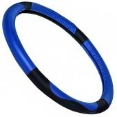 Vitol Чехол для руля кожаный 09NR602 A, чёрный/синий
